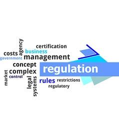 word cloud regulation vector image vector image