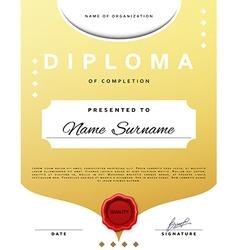 Certificate design template diplom border vector