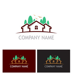 home realty tree logo vector image