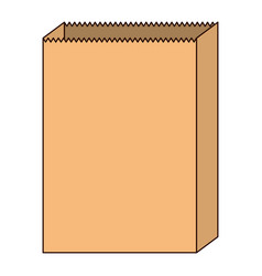 paper bag icon in colorful silhouette with thin vector image