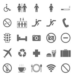 Plublic icons on white background vector image