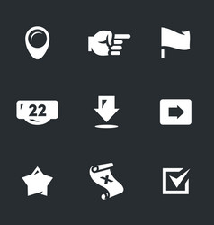 set of pointer icons vector image