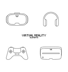video game objects vector image