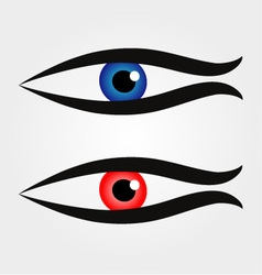 Abstract fish with large eyeball inside vector