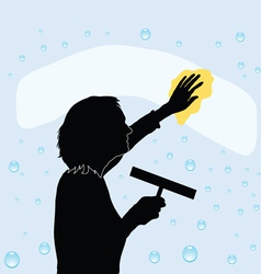 Cleaning Windows vector image