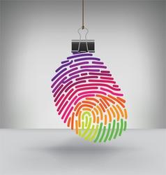 Clip Fingerprint rainbow vector image vector image