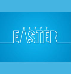 easter line lettering poster background vector image