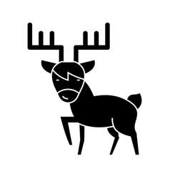 elk cute icon black sign on vector image vector image