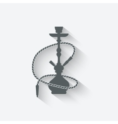 hookah relaxation icon vector image