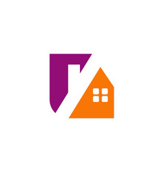 House roof realty company logo vector