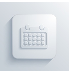 Modern calendar light icon vector