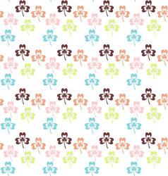 Seamless Colorful shamrock pattern shamrock vector image