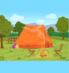 walking hiking or sports outdoor camping vector image