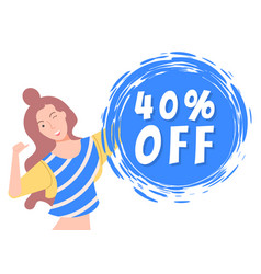 40 forty percent off best price discount capture vector