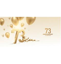 73rd anniversary celebration background vector