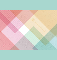Abstract geometric pattern pastel color vector