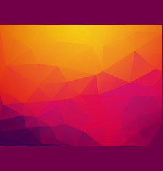 Abstract orange purple sunset polygonal background vector
