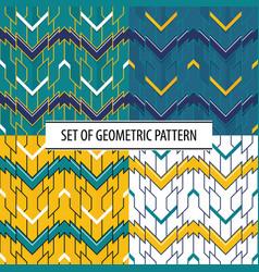 abstract set geometric seamless modern tiles vector image