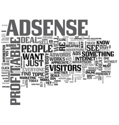 Adsense is for everyone text word cloud concept vector