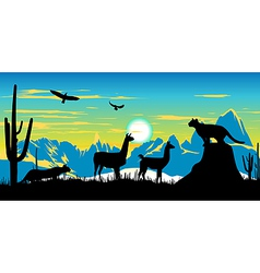 Argentinian Wildlife Background vector