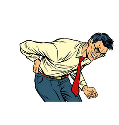 backache low back pain man health and medicine vector image