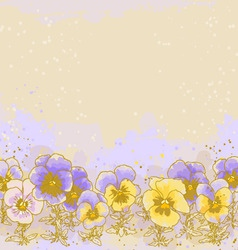 background with pansy vector image