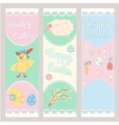 Banner Templates Happy Easter vector image