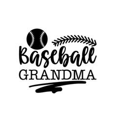 baseball grandma vector image