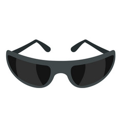 Black sunglasses icon isolated vector