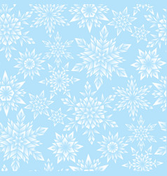 blue snowflakes pattern vector image