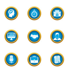 Business recharge icons set flat style vector