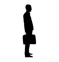 businessman with briefcase standing man with a vector image