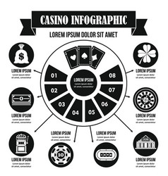 Casino infographic concept simple style vector