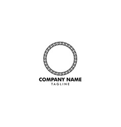 Chain circle logo vector