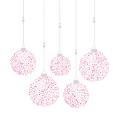 Christmas balls decoration vector