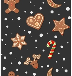 Christmas cookies pattern vector