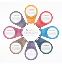Circle Diagram with Eight Elements vector