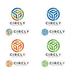 circly - letter y logo with circle concept vector image