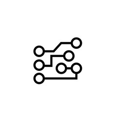 circuit board flat icon vector image