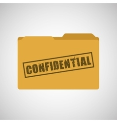 confidential folder design vector image