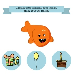 Congratulations birthday with a character vector image