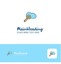 creative search on cloud logo design flat color vector image