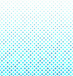 Cyan abstract curved star pattern background vector