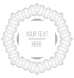 elegant filigree frame with space for text vector image