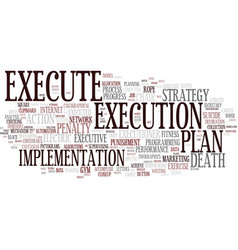 execute word cloud concept vector image