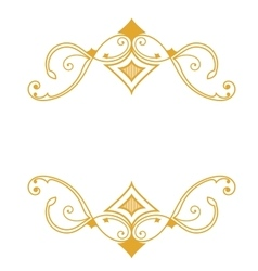 Gold a retro a frame on a white background vector image vector image
