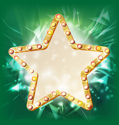 golden star frame glowing element star vector image