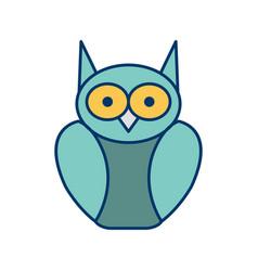 Graduate owl icon vector