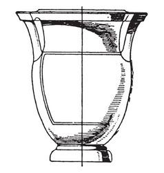 greek krater has columnar handles vintage vector image