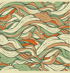 Green doodle wool seamless pattern vector